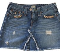 True Religion Mini Skirt Jean