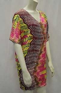 Tucker short dress Multi-Color Pinkmulti Silk Blend Tunic W Pockets 130223e on Tradesy