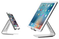 uanergent Silver Aluminum Lazy Bracket Stand For iPhone iPad Mini Air Pro