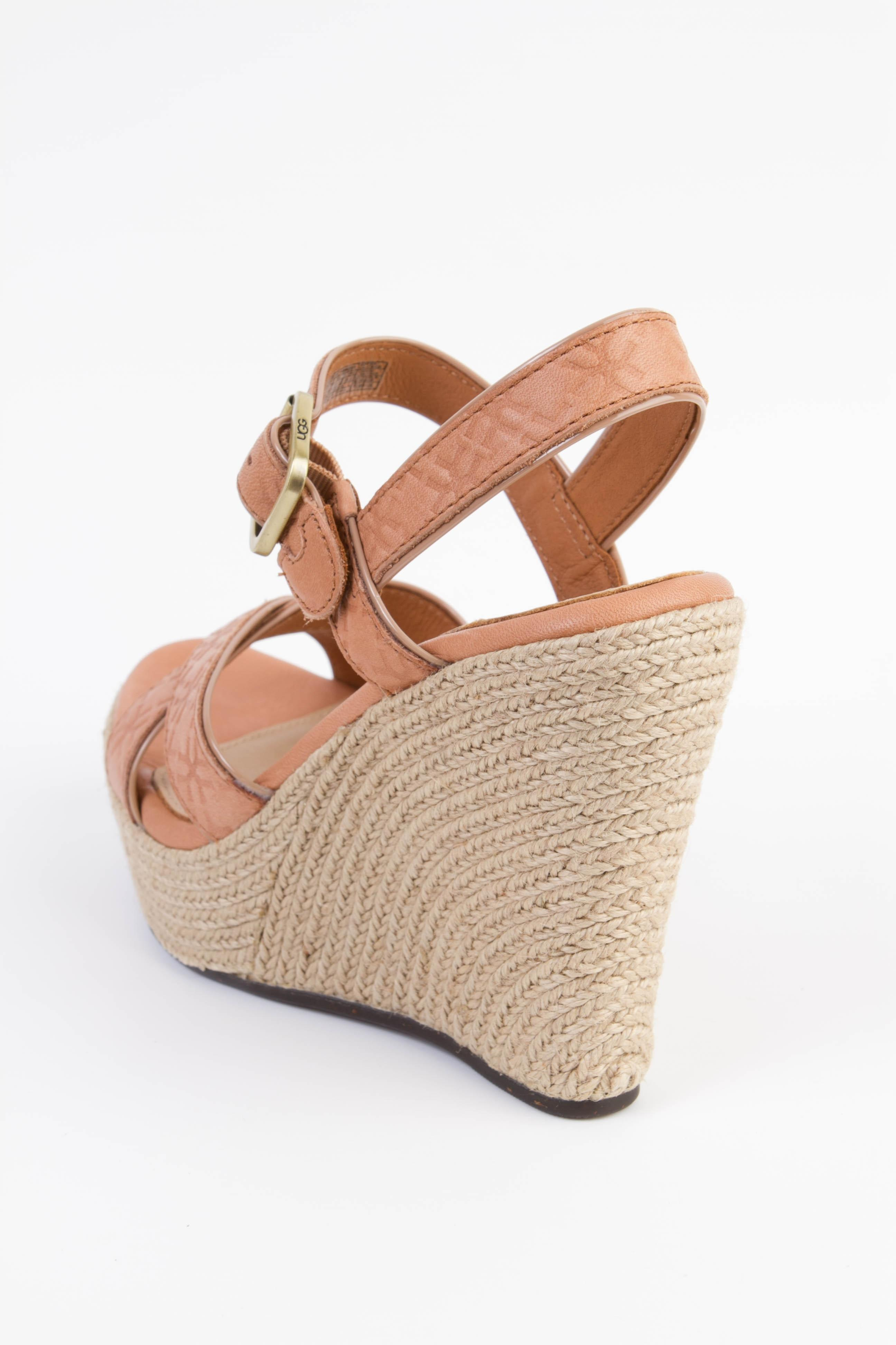 clearance under $60 cheap authentic outlet UGG Australia Embossed Platform Wedges under $60 online O720rSS