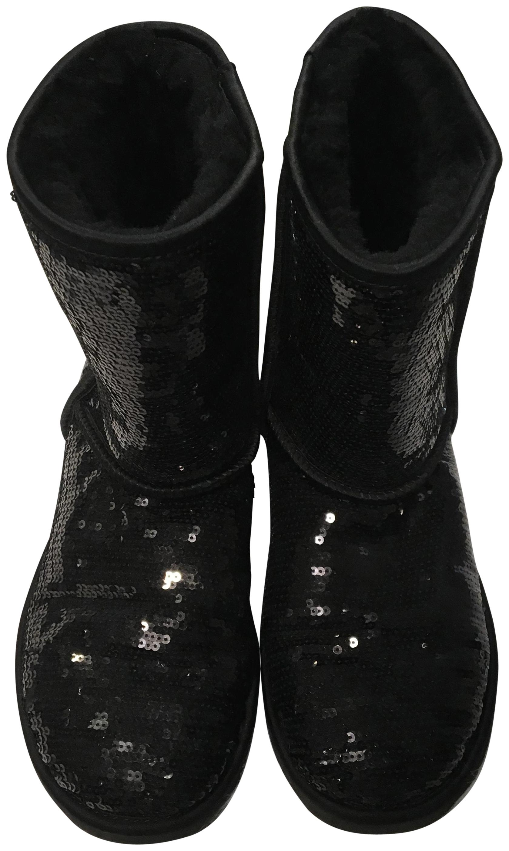 UGG Australia Winter Uggs Sparkle Uggs Black Boots ...
