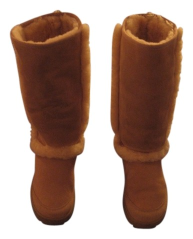 UGG Australia Tall Sunburst Shearling Size 7 Suede Sand, light tan Boots ...