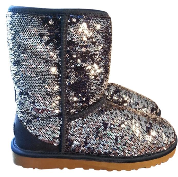 UGG Australia Silver/Navy blue sparkle Boots ...