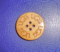 UGG Australia ONE UGG Replacement button - Natural stained for your Bailey Buttons, Triplet, Cardy Boots (extra, spare)