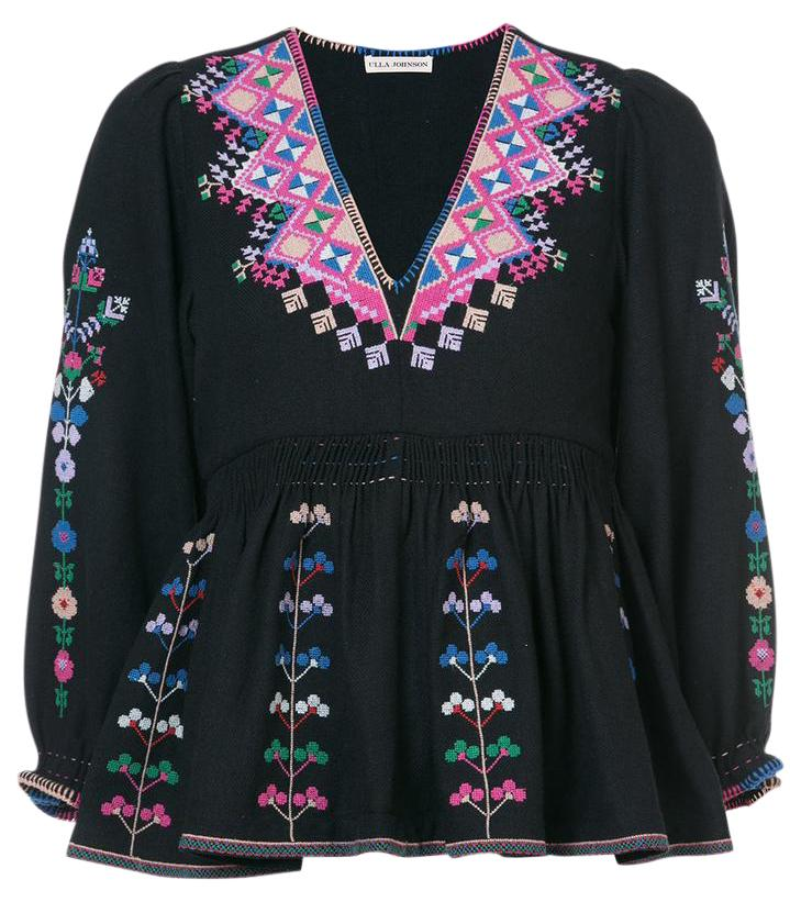 Ulla Johnson Embroidered Long Sleeve Top Free Shipping Lowest Price Buy Online Cheap Explore Sale Online DgCo29