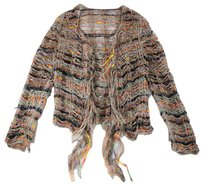 Other Cardigan Fringe Knit Multicolored Nm Sweater