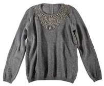 Cashmere Crystal Gray Italian Sweater