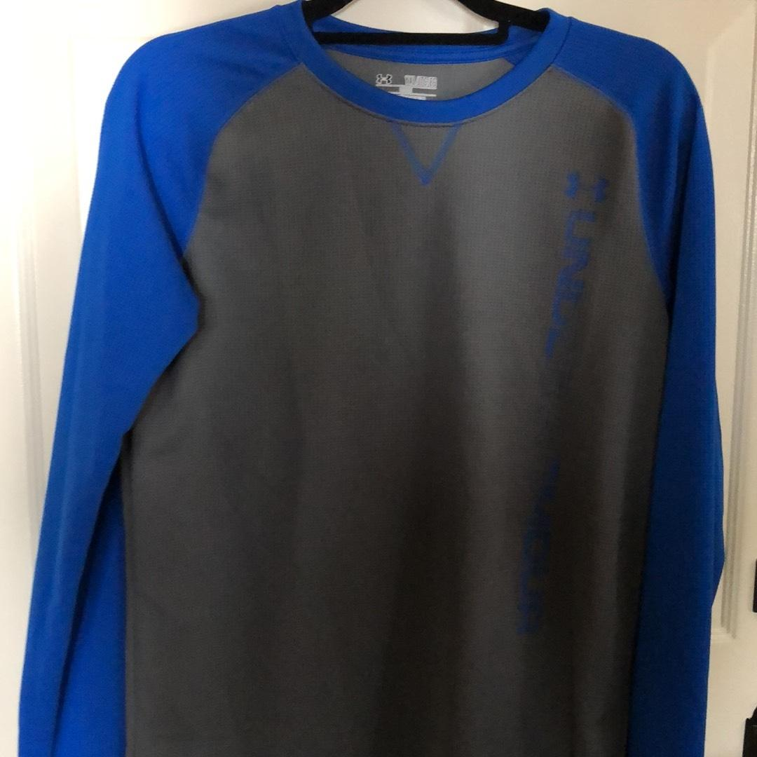 royal blue under armour sweatshirt