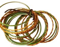 Unknown Green & Gold Bangles