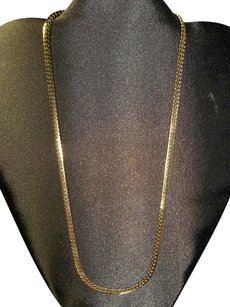 Unknown Necklace is Gold Tone, Box Chain Link, 19 Inches in Length