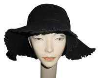 New black felt hippy hat with fringe