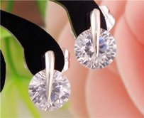 Wgf White Sapphire Stud Earrings Free Shipping
