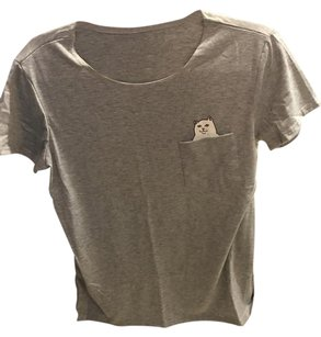 Urban Outfitters T Shirt Grey White