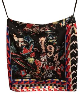 Urban Outfitters Mini Skirt Red Black Multi