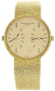 Vacheron Constantin Mens Vacheron Constantin Dual Time 18k Yellow Gold Watch