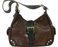 Valentina Made In Italy Leather Goldtone Hardware Hardware Shoulder Bag