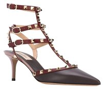 Valentino 2.5 Inches Rockstud burgundy Pumps