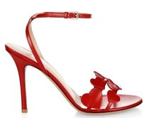 Valentino Lamour Leather Red Sandals