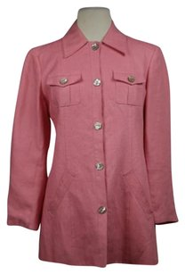 Valentino Jeans Womens Basic S42 Cotton Casual Coat Pink Jacket