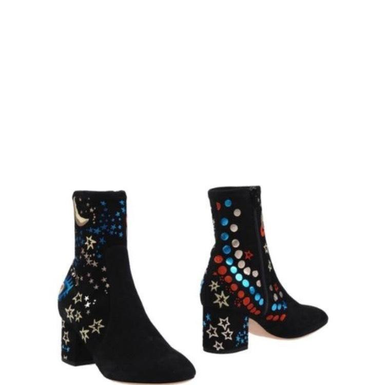 Valentino Black Blue Gold Red Multi New Boots/Booties Size EU 40 (Approx. US 10) Regular (M, B)
