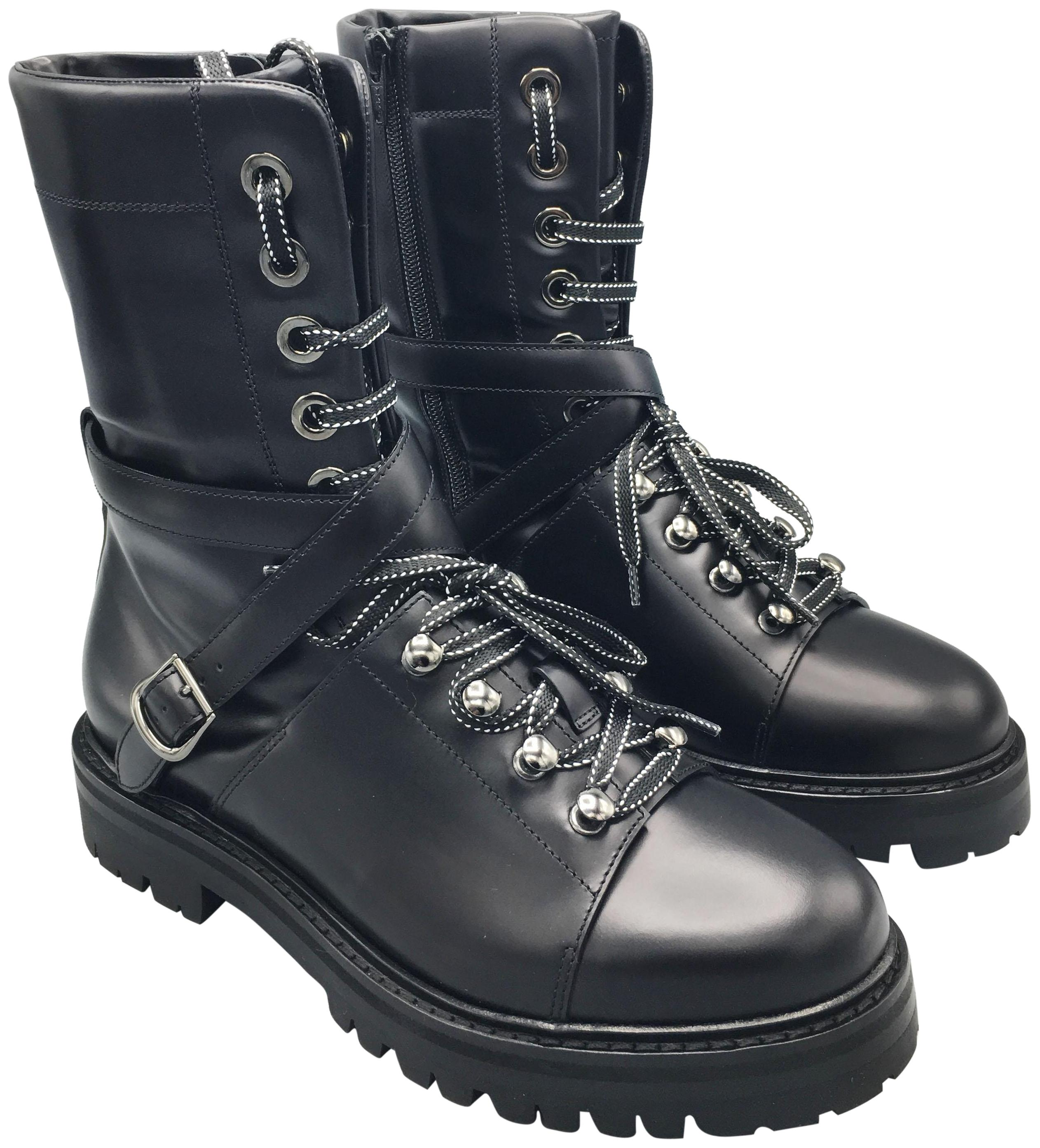 1baf6fbbcf14a Valentino Black Style Size US 8 Regular (M, B) Combat Boots/Booties ...