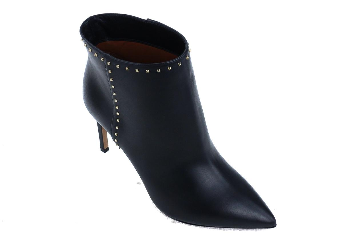 212d77f9a21d Valentino Black Leather Rockstud Ankle Boots Booties Size Size Size US 8  Regular (M