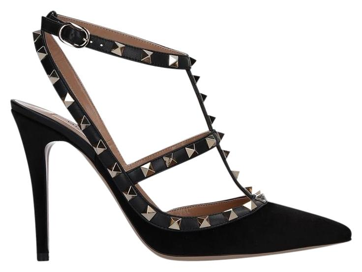 Valentino Black Rockstud Slingback Pumps Size EU 38.5 (Approx. US 8.5) Regular (M, B)