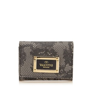 Valentino Black,card Holder,gray,leather,6gvlcd001