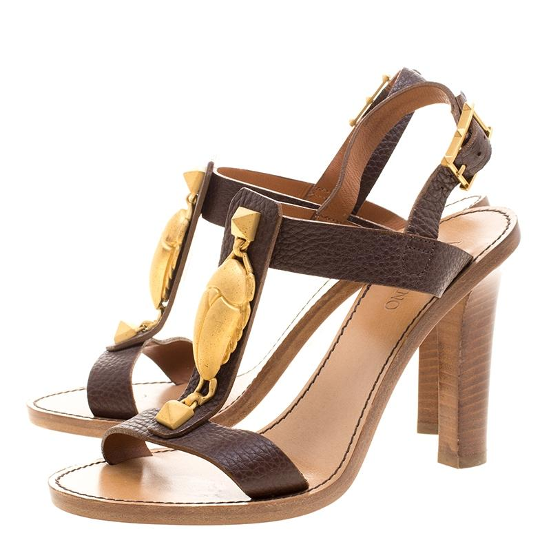 Valentino Gryphon T-Strap Sandals sale new styles exclusive online cost online outlet professional pvGxyRB62I