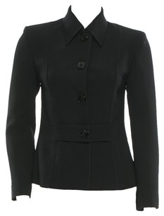 Valentino Buttons Wool Seam Classic Black Jacket