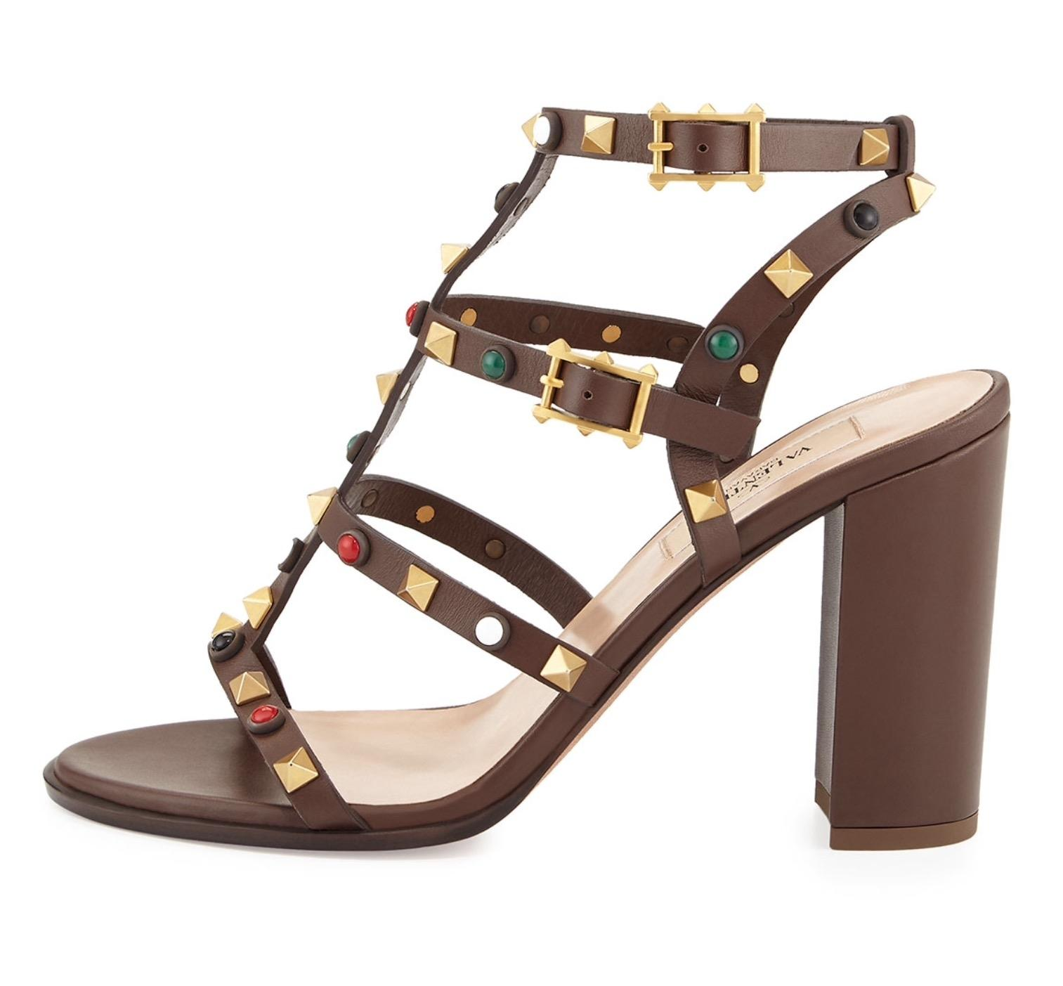 ee59d5a22fb3 ... Valentino Dark Brown 36(Eu) Rockstud Rolling Rolling Rolling City  Sandals Size US 6 ...