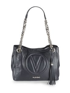 Valentino Date Night Leather Tote in Black