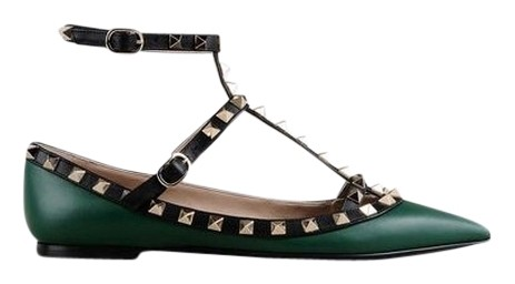 Valentino Dark Green Rockstud An... real sale online T1tDv42dl
