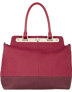 Valentino Leather Red Tote in Burgundy