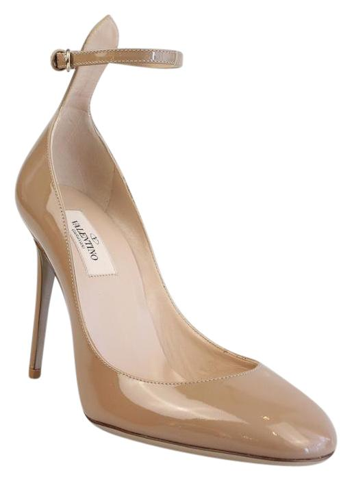 Valentino Patent Leather Ankle-Strap Pumps low price cheap online for sale under $60 TrEQx