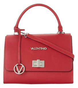 Valentino Purse Ponyhair Satchel in Red