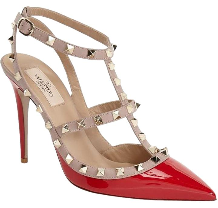 Valentino Red Sale Rockstuds 'rosso' - Sz. 37.5 Eu Pumps Size US 7.5 Regular (M, B)