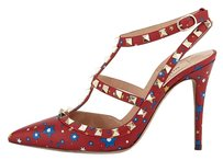 Valentino Rockstud Enchanted Wonderland Red Pumps