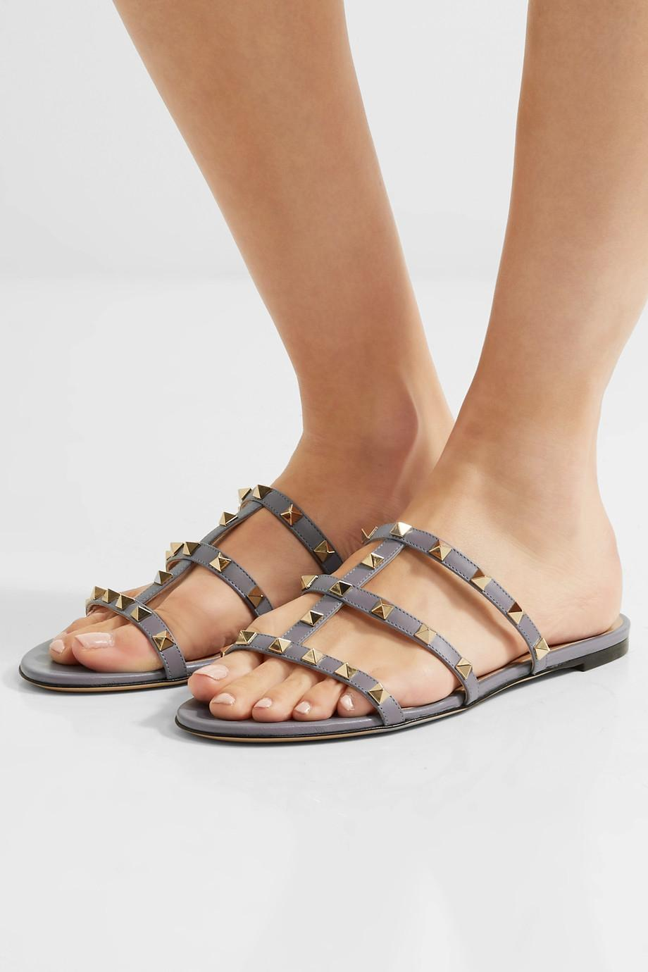 Free Shipping Clearance 2018 Unisex Valentino Rockstud slide sandals Free Shipping Wiki Best Wholesale Online 1pVCAmns2