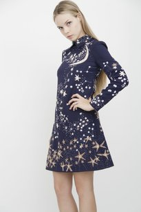 Valentino short dress Blue Moon Stars Dark on Tradesy