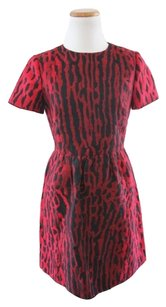 Valentino Silk Leopard Designer Runway Dress