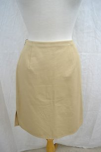 Valentino Vintage Pencil Skirt Beige