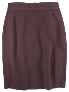 Valentino Straight Pencil Skirt Brown
