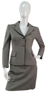 Valentino Moschino Couture Jacket Skirt Suit Houndstooth Mini Pencil Skirt