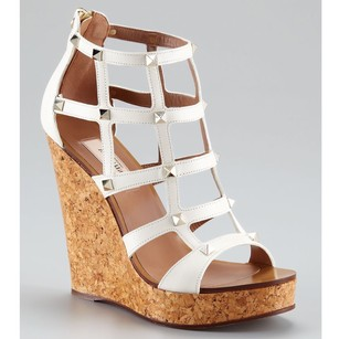 Valentino White Wedges