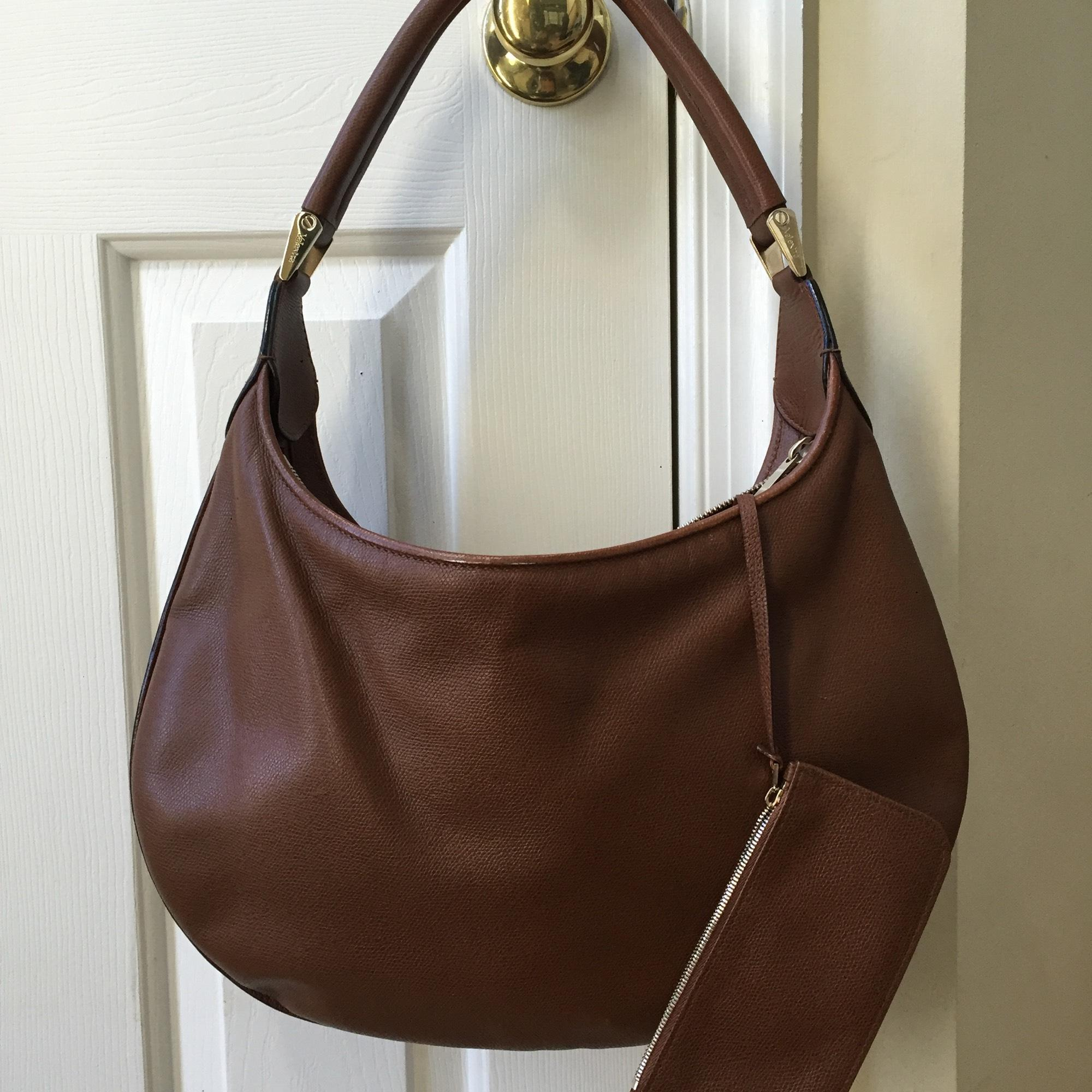 Valextra Cartia Bag. Big Hobo. Attached Pouch/coin Hobo Bag on ...