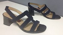 Vaneli Navy Synthetic Strappy Blue Sandals