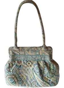 Vera Bradley And Flower One Exterior Pocket 6 Inside Slots Kiss Closure One Inside Zipper Shoulder Bag