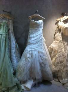 Vera Wang Ivory Tulle and Organza Gemma Gown with Blush Blizzard Feminine Wedding Dress Size 2 (XS)