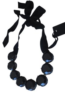 Vera Wang jet black crystal faceted cut gumball statement NECKLACE $750